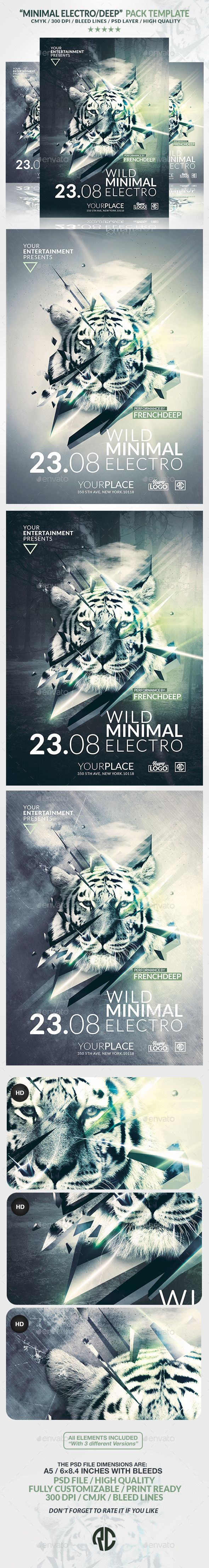 Minimal Deep Electro | Psd Flyer Template | Creative Flyer |Psd Available. #flyer #template #party  Thanks for The Watching !
