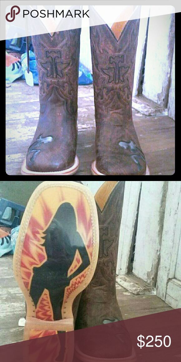 Men's Tin Haul cowboy boots Brand new! Comes with box Shoes Heeled Boots