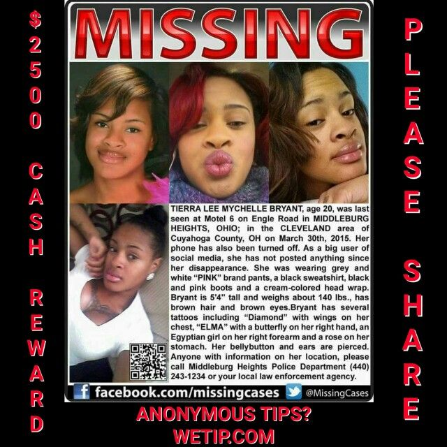 18 best Missing images on Pinterest Black women, Cleveland and - missing person posters