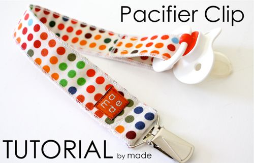 Pacifier Clip Tutorial + Sophie & Lili Giveaway | Sew Mama Sew |
