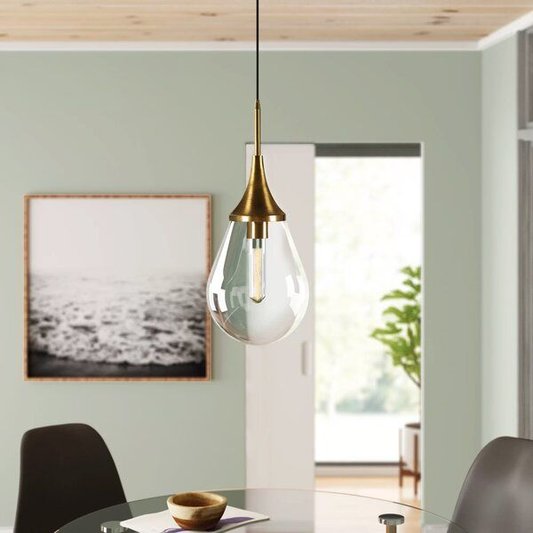Sarah 1 Light Single Teardrop Pendant In 2021 Pendant Lighting Gold Pendant Lighting Light