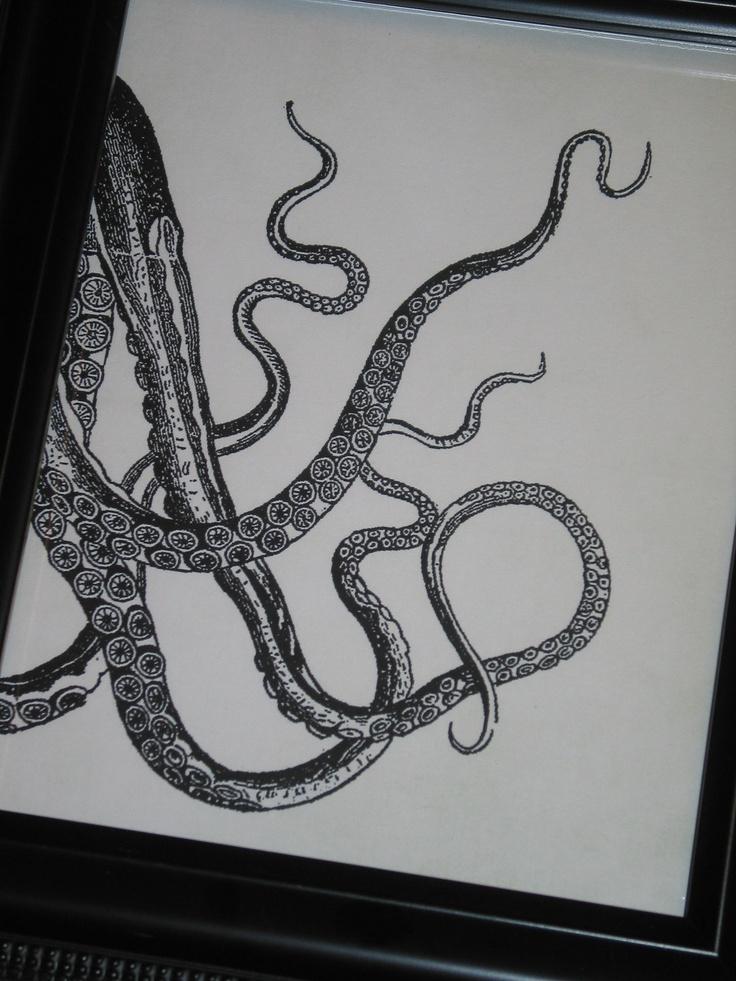 Octopus Print Octopus Art Octopus Arms Sea Life Print 8 x 10. $10.00, via Etsy.