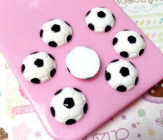 6 pcs Soccer Ball Resin Cabochon 14mm от PixieKhloe на Etsy