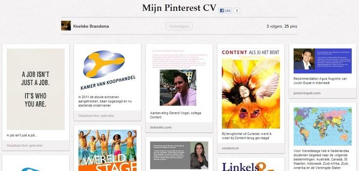 Het Pinterest CV van Knelske