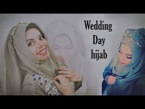 How to drape Long Dupatta into beautiful hijab | wedding hijab tutorial - YouTube
