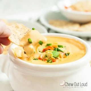 Homemade Nacho Queso Dip - Chew Out Loud