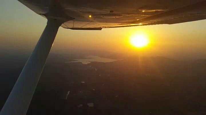 Took a flight with my friend in her Cesner .. Overlooking Hartebeespoort Dam in Johannesburg during sunset. Just amazing!