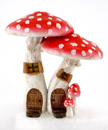 Look what I found on #zulily! Red Mushroom Fairy Houses Décor #zulilyfinds