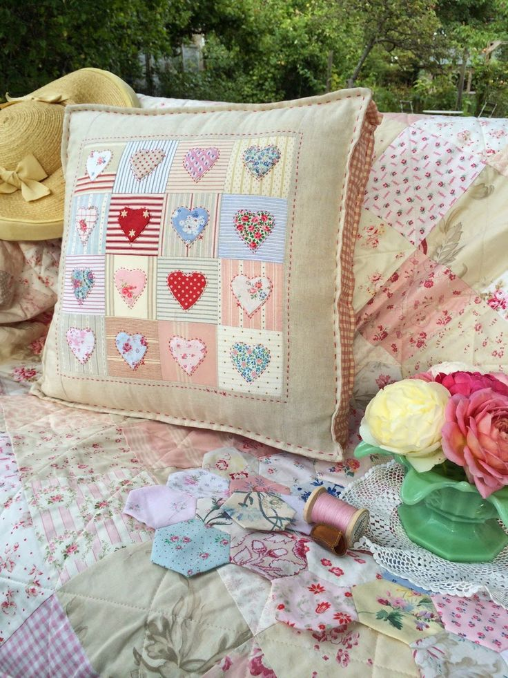 Applique Cushions Shabby Chic