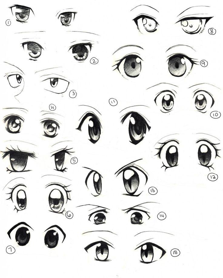 Картинки рисованные аниме глаза