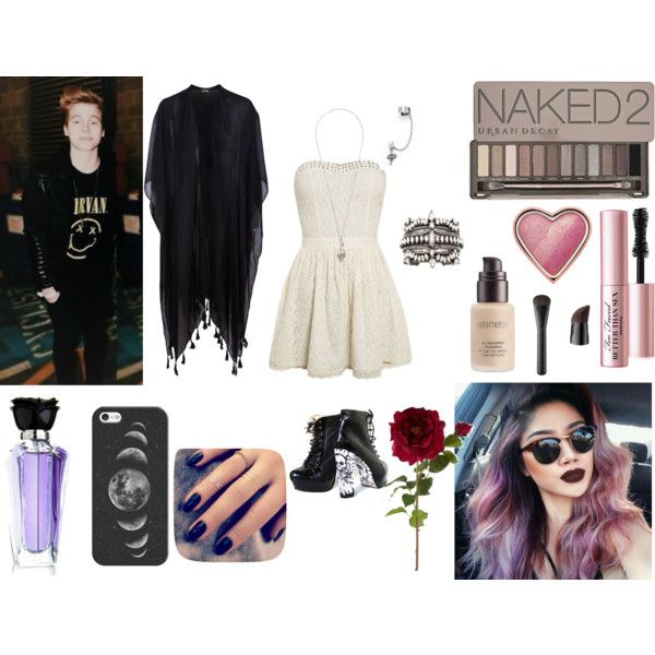 #63 by carina-stroe on Polyvore featuring Pieces, Alexander McQueen, XEVANA, DANNIJO, Casetify, Urban Decay, Laura Mercier, Too Faced Cosmetics, Sephora Collection and Lottie