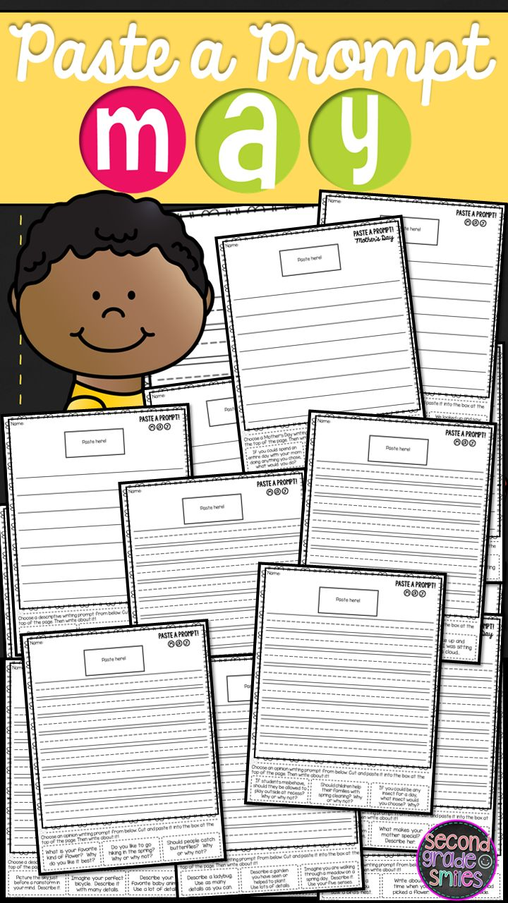 This Paste a Prompt writing prompts motivate even my most reluctant second grade writers by offering elements of choice while still ensuring that students practice personal narrative, informative/expository, opinion, descriptive, and creative writing. Perfect for Common Core aligned writing centers!