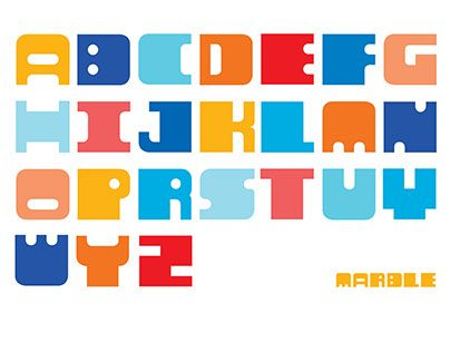 """Check out new work on my @Behance portfolio: """"Marble font"""" http://be.net/gallery/45620581/Marble-font"""
