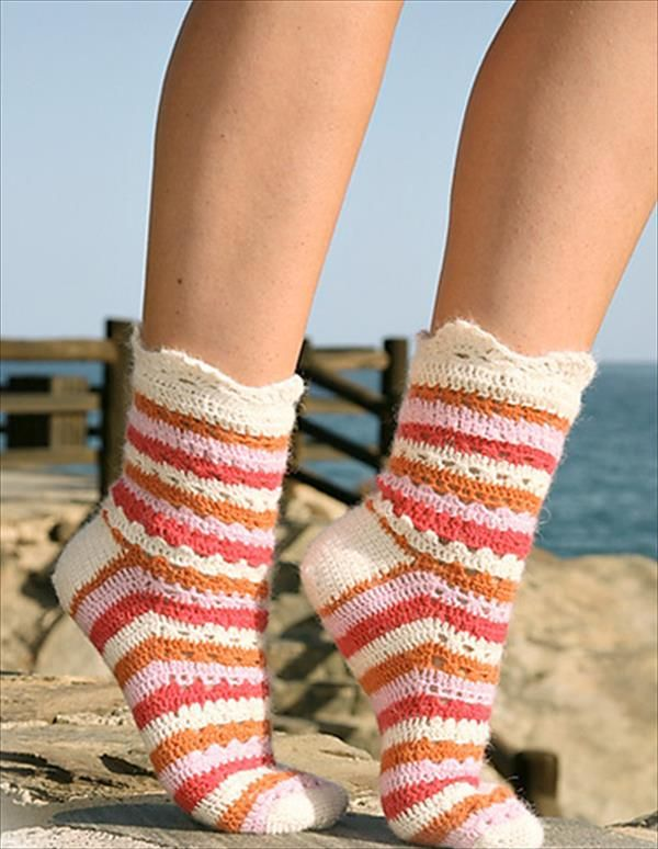 6 free Crochet Socks Pattern | 101 Crochet