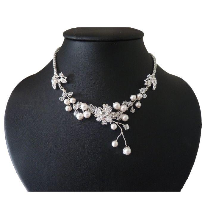 Perlen Kristall Kette Brautschmuck