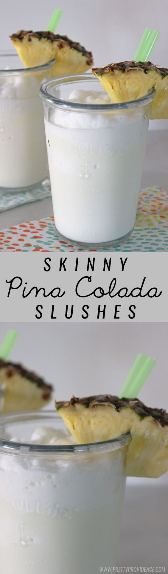 These skinny virgin pina colada slushes are amazing! A totally guilt free and refreshing summer drink!: