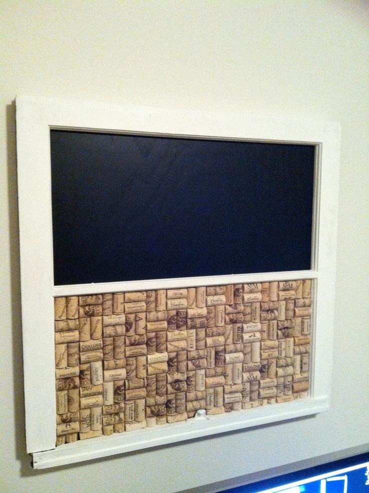 Reclaimed Vintage Window Cork/Chalk Board. $65.00, via Etsy.