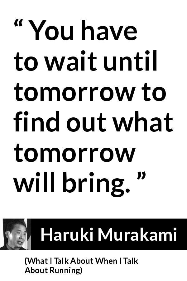 Haruki Murakami About Waiting What I Talk About When I Talk