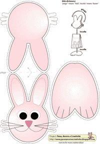 Lavoretti di Pasqua: un coniglietto portaovetti o portabiscottini - Pane, Amore e Creatività | Pane, Amore e Creatività