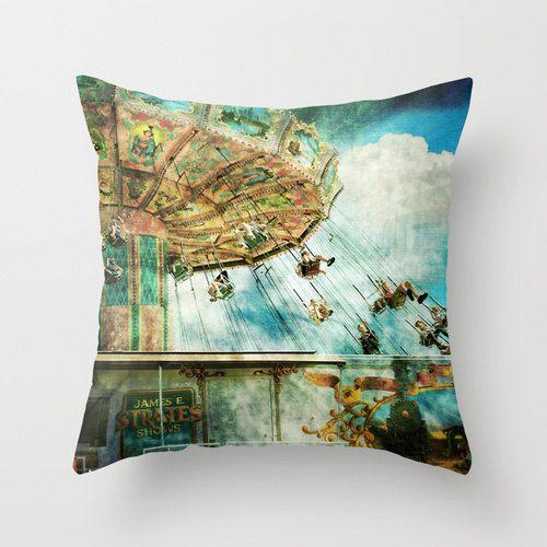 Pillow Cover, Circus Pillow, Retro Carnival Pillow ...