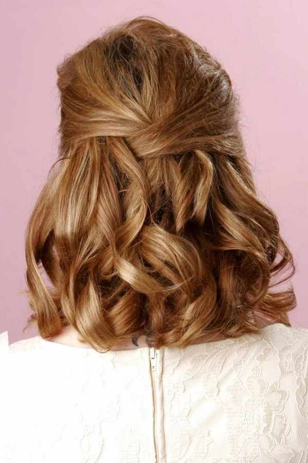 Image Result For Pinterest Mother Of The Groom Hairstyles Half Up Shoulder Length Hair For Mother Of The Bride Hair Hair Styles Hair Lengths