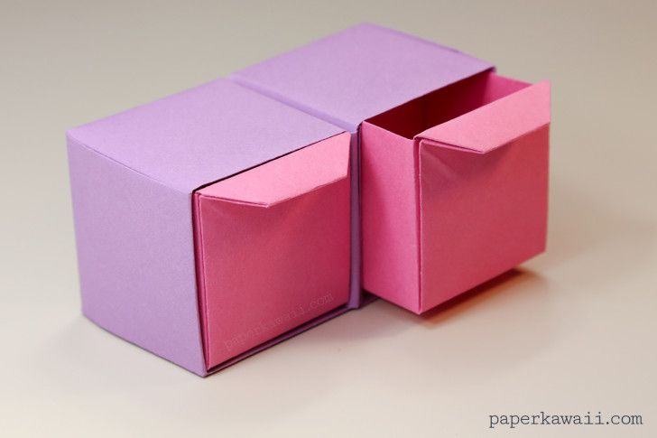 Origami Pull-Out Drawers Instructions - Paper Kawaii
