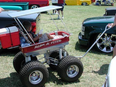 Custom Radio Flyer Wagon Side View