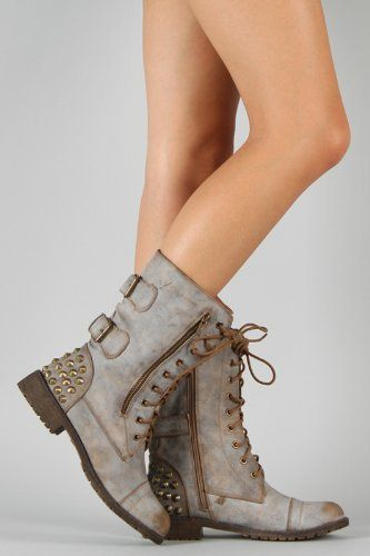 Tan Combat Boots For Women