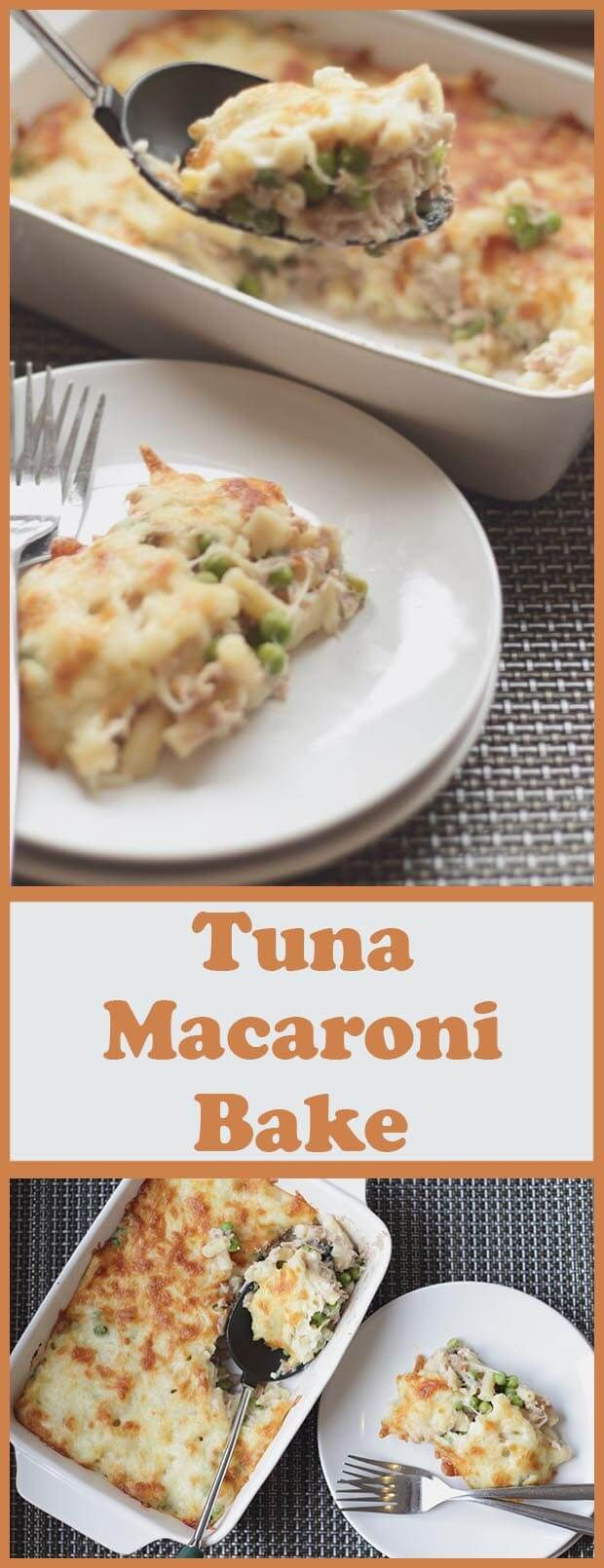 Tuna macaroni bake. This is a simple, tasty and low cost family bake for four. One that definitely fits into your favourite category of low cost, quick healthy meals! #Macaroni #Tasty #Quick