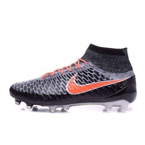 Nike Magista - лучший футбольныебутсы Nike Magista Obra FG черный серый