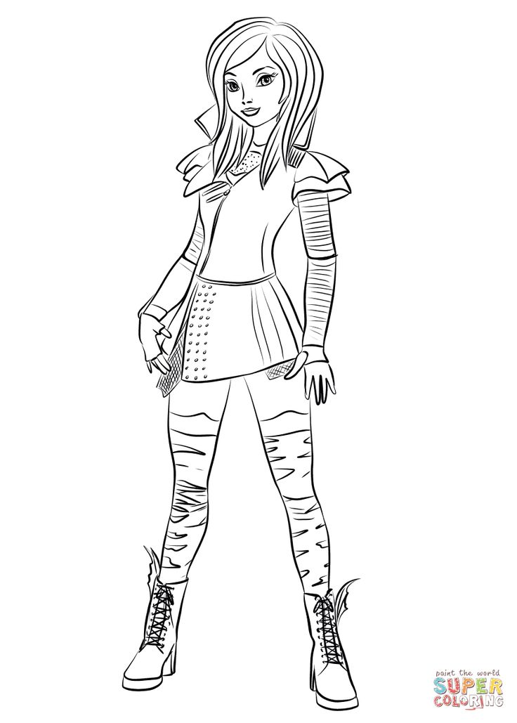 Mal Coloring Pages Mal From Descendants Coloring Page