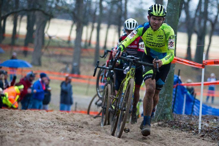 MICHAEL VAN DEN HAM with a Garneau STEEPLE cyclocross bike