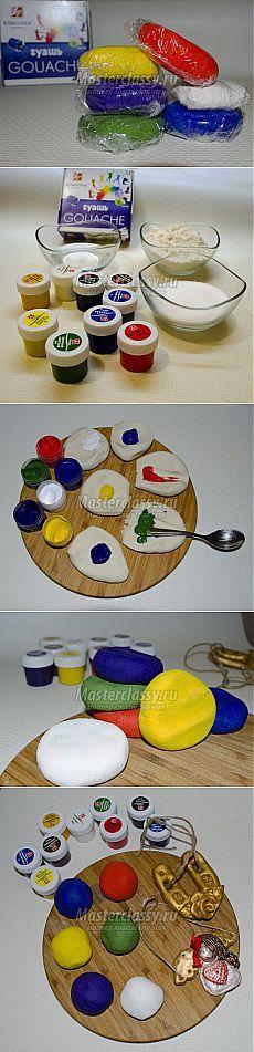 Цветное солёное тесто своими руками. Мастер-класс с пошаговыми фото