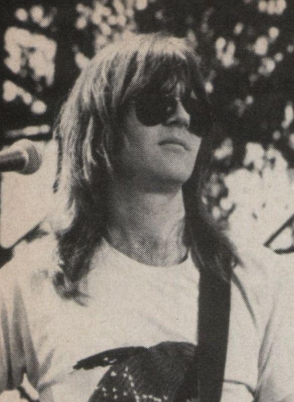"""skippyflip: """" Randy Meisner at """"California Jam,"""" 1974. Jackson Browne sat in for Don Felder during the Eagles' set. """""""
