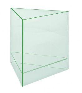 Boîte de présentation triangulaire, glass look