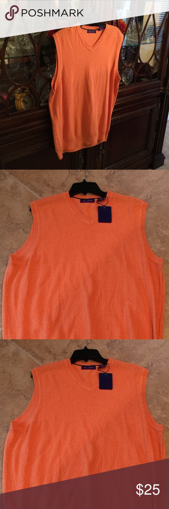 Alan Flusser Men's Orange Sweater Vest Size XL Quality at its Best! Great for Work or Play Alan Flusser Other