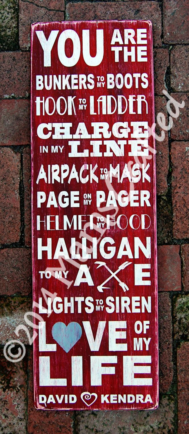 Charge In My Line, Personalized Firefighter Subway Art by MamsCrafted on Etsy