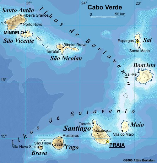 cape verde | Cape Verde Islands Caribbean Islands wrong side of Atlantic as ...