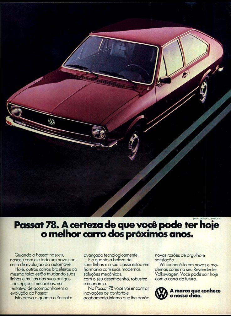 Anúncio Passat 78 - 1977                                                                                                                                                                                 Mais