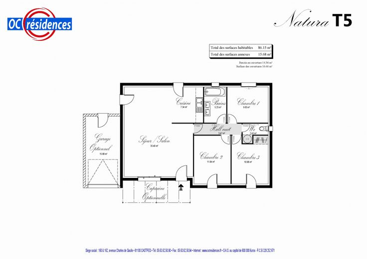 99 Plan Maison Plain Pied 70m2 2019 | Plan maison plain pied, Maison plain pied, Plan maison