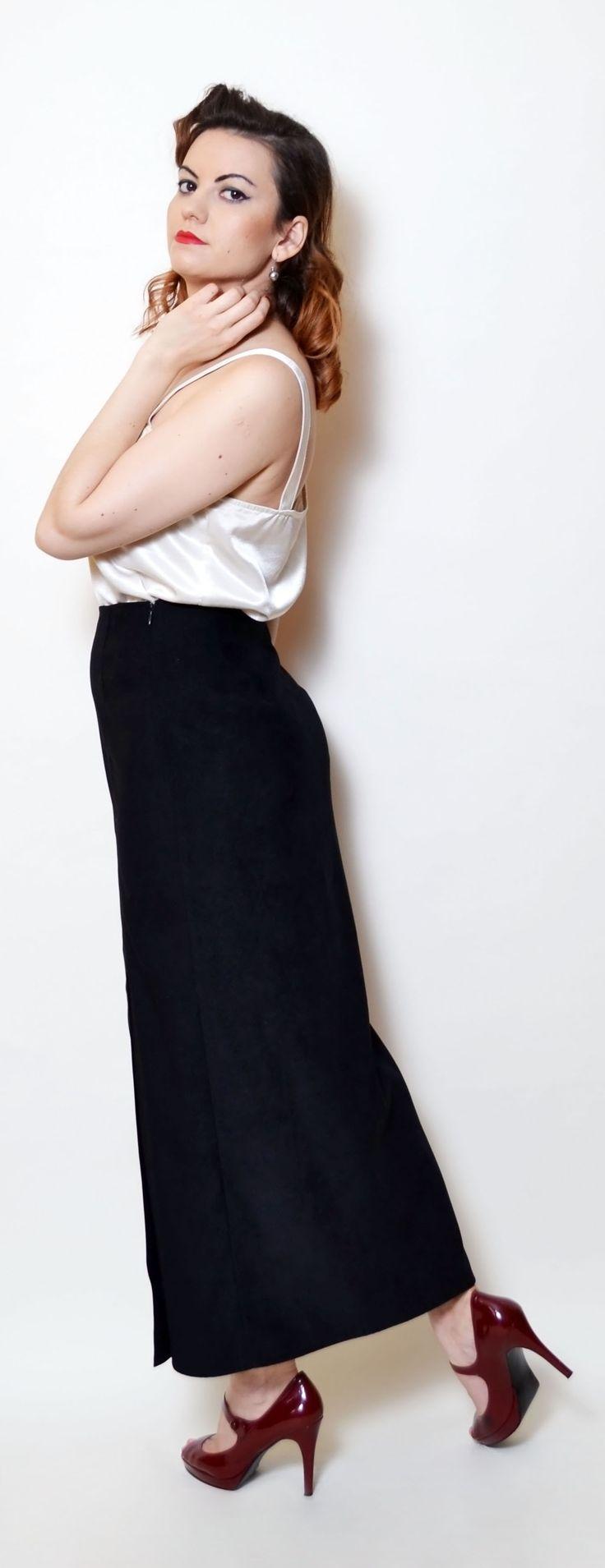 #vintage #maxi #skirt