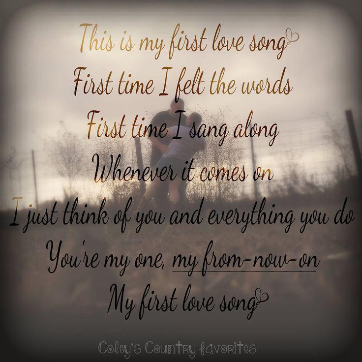 """My First Love Song"" ~Luke Bryan ♥"