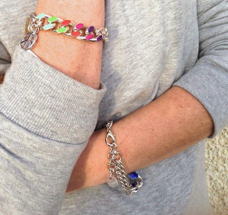 #jewels #bijoux #purple #liliac #girl #fashion #style #rock #fashion #people #milan #tattoo #fashionblogger #style @Telli Collection Milano  #necklace #bracelet #rainbow #colors #colorful #bijoux anallergici #bijoux anallergici - Rainbow Bracelet - Peace & Love in un gioiello a colori, telli collection Simonetta Granatelli , Amanda Marzolini, the...