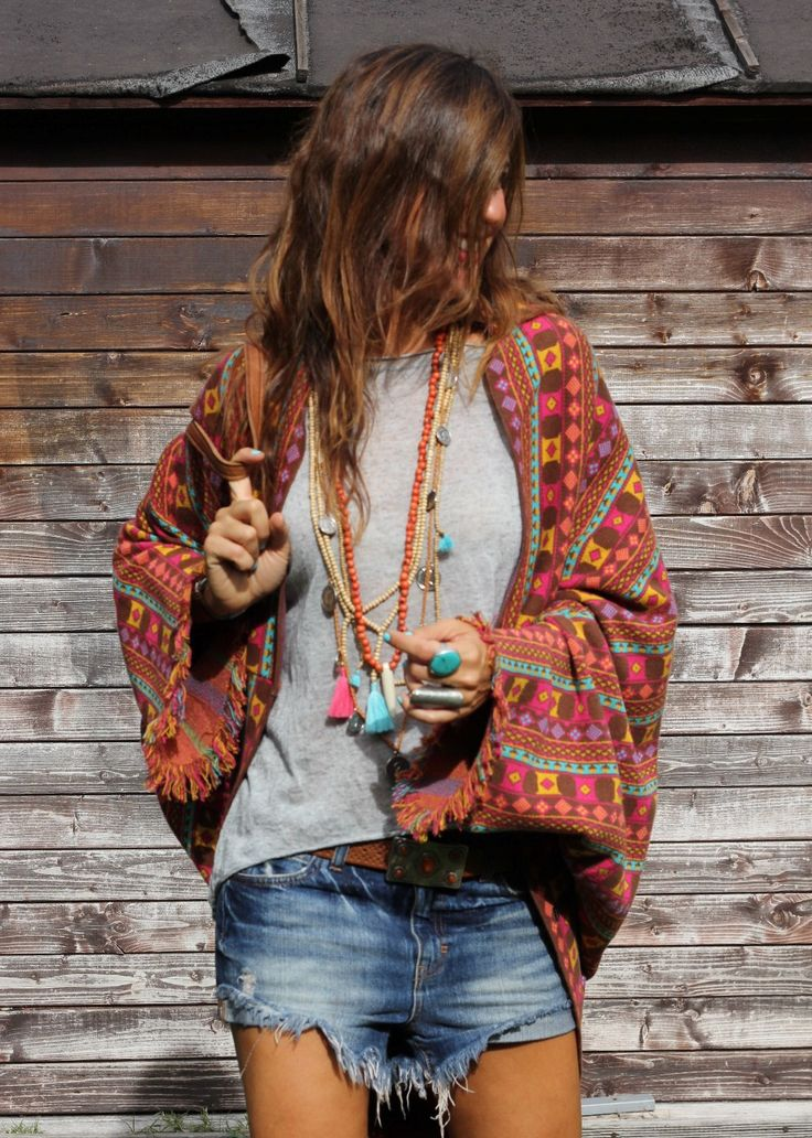 boho kimono. summer outfit.
