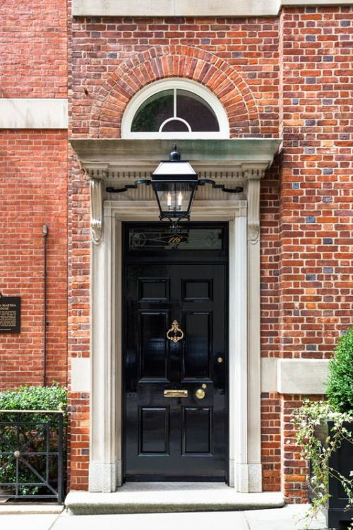 Gloss Black Solid Door 6 Panel Single Lite Transom With