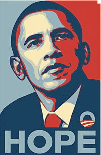 """33. Political Posters Today  Shepard Fairey's Obama poster for the 2008 presidential campaign was derived from a photograph taken by Mannie Garcia, a freelance photographer. A year later Fairey admitted that he had fabricated and destroyed evidence of the actual source. """"Photographer Mannie Garcia contended that he retained copyright to the33. Political Posters Today  Shepard Fairey's Obama poster for the 2008 presidential campaign was derived from a photograph taken by Mannie Garcia, a…"""