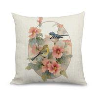 Пользовательские китайской традиционной птица и цветочный печать диван чехлы 45…