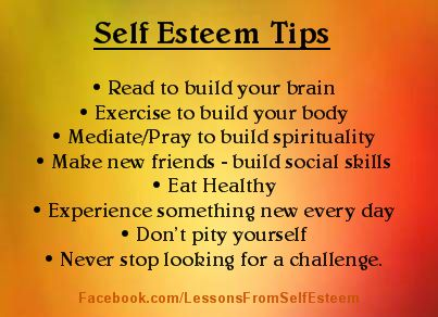 Tips to build self-esteem