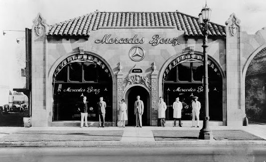 Just A Car Guy: a 1920s Mercedes Benz dealership in LA