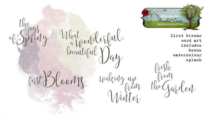 First Blooms Word Art